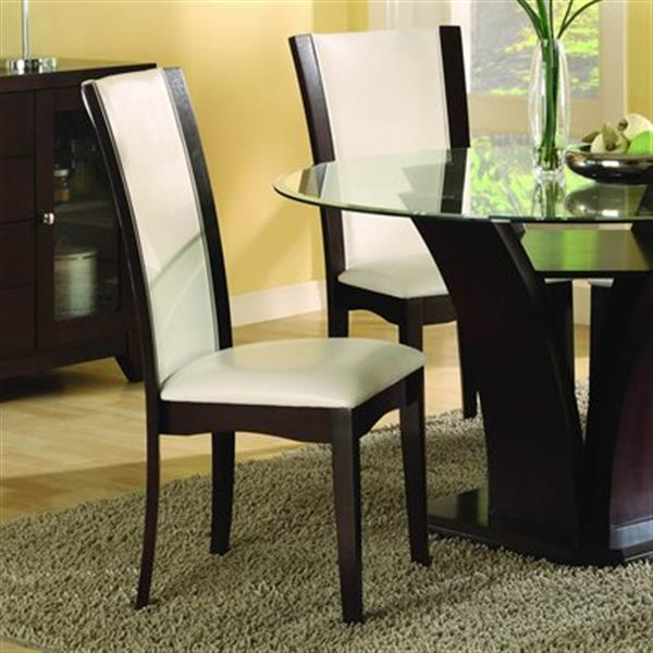 Homelegance Daisy 40-in x 20.5-in Espresso-White Dining Chair (Set of 2)