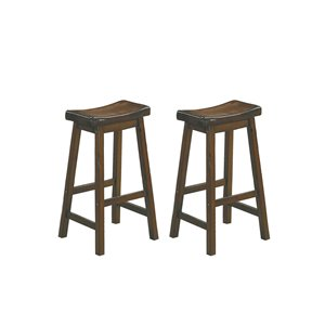 Homelegance Saddleback 29-in Warm Cherry Bar Stool (Set of 2)