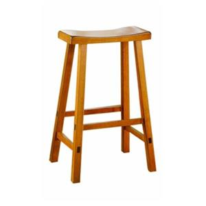 Homelegance Saddleback 24-in Oak Bar Stool (Set of 2)