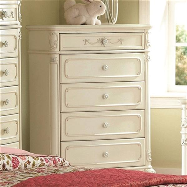 . Homelegance Cinderella 1386 48 in x 33 in White Chest 1386 9   RONA