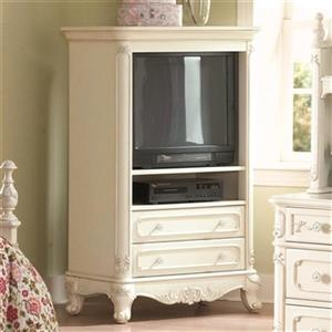 Homelegance Cinderella 55-in x 35-in White Armoire
