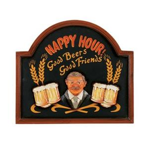 RAM Game Room Products 23-in x 20-in Happy Hour Framed Sign