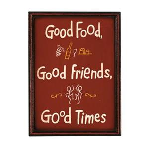 RAM Game Room 16-in x 12-in Good Food Good Times Outdoor Sign