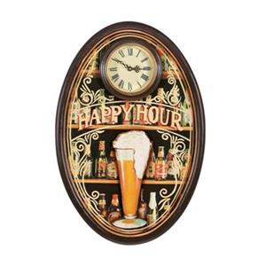RAM Game Room Products 24-in Happy Hour Clock Decor