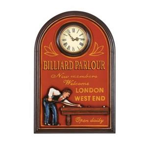 Ram Game Room 24-in x 16-in Billiard Parlour Wall Clock