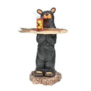 RAM Game Room Products Décor Bear Waiter Statue