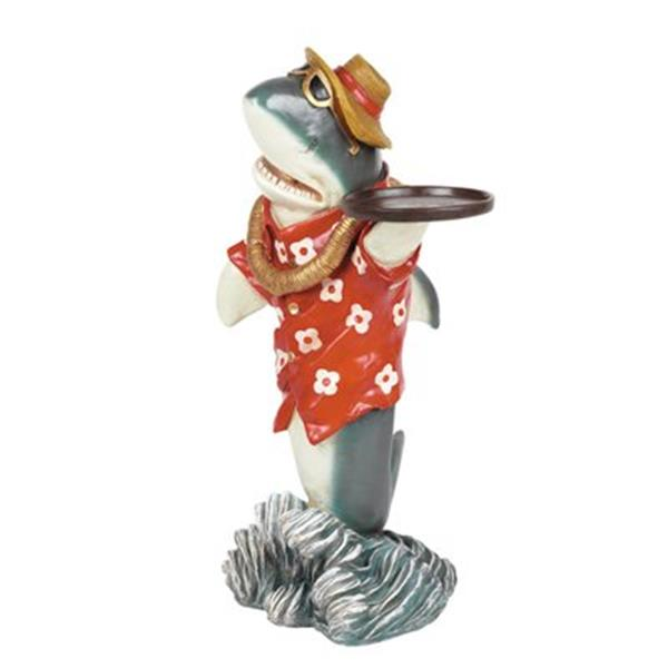 RAM Game Room Products Décor Shark Waiter Statue