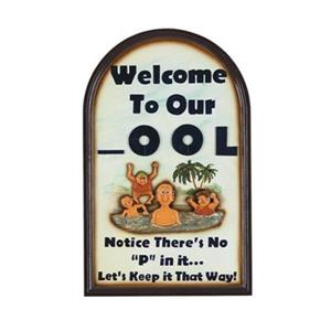 RAM Game Room 29-in x  18-in Welcome To Our OOL Outdoor Sign