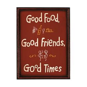 RAM Game Room 16-in x 8-in Good Food Good Times Outdoor Sign