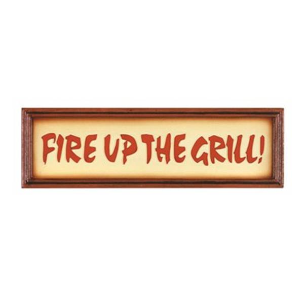 RAM Game Room 17-in Fire Up The Grill Outdoor Sign