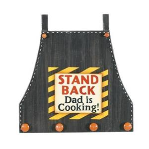 RAM Game Room 18-in x 19-in Dad is Cooking Utensil Holder Outdoor Wall Art