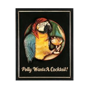 RAM Game Room 19-in x 16-in Polly Want a Cocktail Outdoor Sign