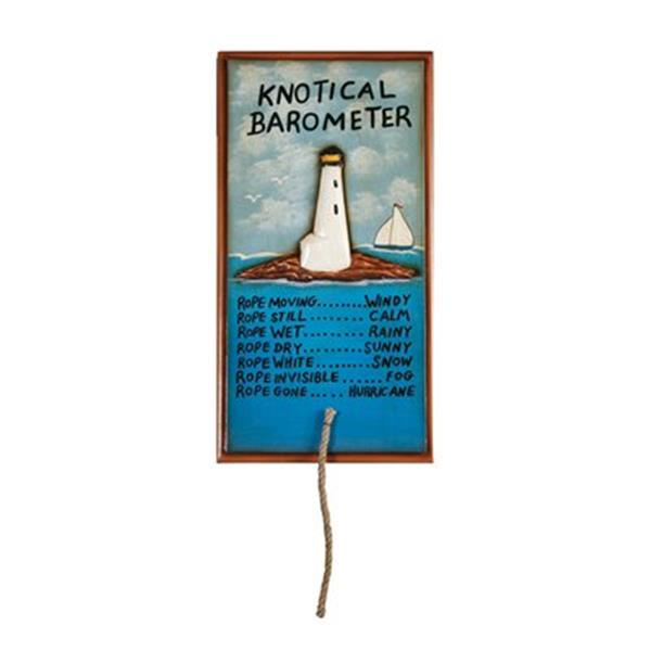 RAM Game Room 25-in x 13-in Knotical Barometer Outdoor Sign