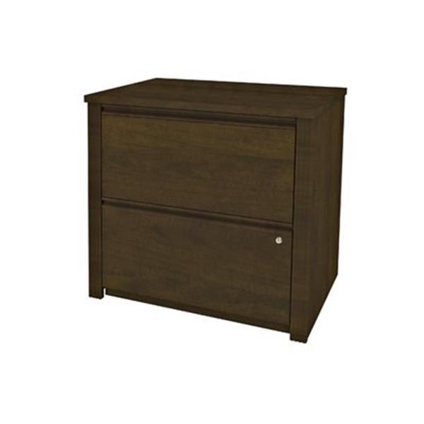 Bestar Prestige 30.30-in x 30.70-in Brown Lateral File Cabinet