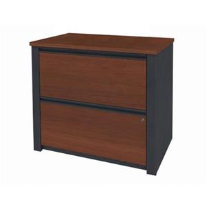 Bestar Prestige 30.30-in x 30.70-in Bordeaux/Graphite Lateral File Cabinet