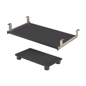 Bestar Prestige Grey Keyboard Shelf and CPU Platform