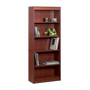 Bestar Standard 72-in x 29.5-in x 11.6-in Bordeaux Bookcase