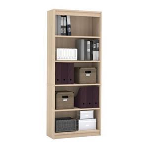 Bestar Standard 72-in x 29.5-in x 11.6-in Northern Maple Bookcase