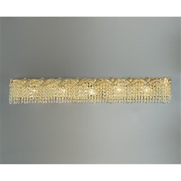 Classic Lighting Regency 24K Gold Plate 5-Light Bathroom Vanity Light Bar
