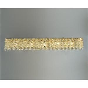Classic Lighting Regency 24K Gold Plate 5-Light Bathroom Vanity Light Bar