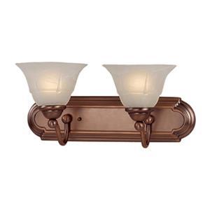 Classic Lighting Providence Rustic Bronze 2-Light Bathroom Vanity Light