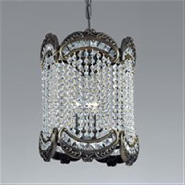 Classic Lighting Emily Collection 12-in x 17-in Roman Bronze Crystalique-Plus 3-Light Foyer Light