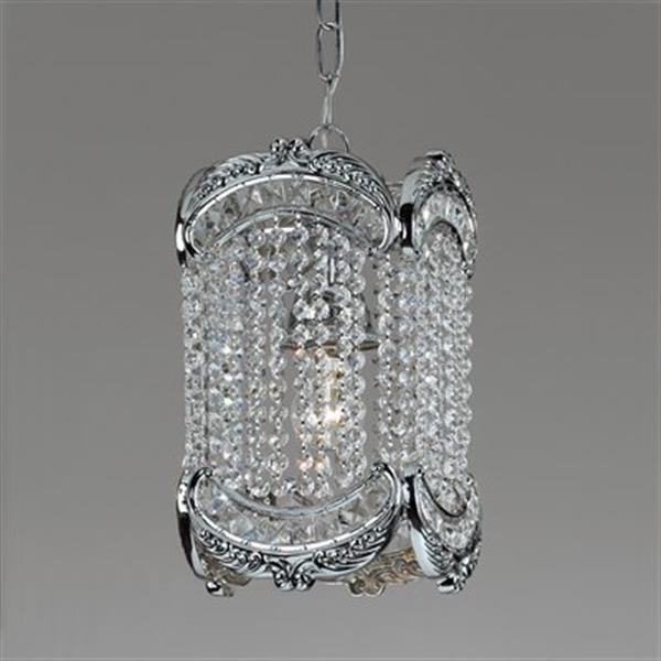 Classic Lighting Emily Collection 12-in x 17-in Roman Bronze Swarovski Spectra Crystal 3-Light Foyer Light