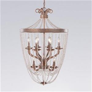Classic Lighting Light Grace 22-in Copper Bronze 9-Light Foyer Light