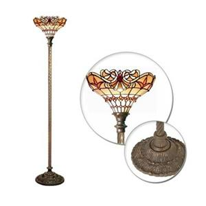 Warehouse of Tiffany Barouque Torchiere Floor Lamp