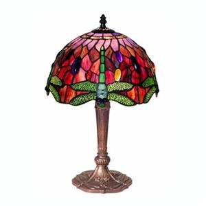 Warehouse of Tiffany Tiffany Style Dragonfly Table Lamp