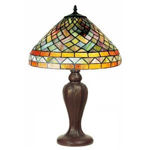 Warehouse of Tiffany Tiffany Style Geometric Table Lamp