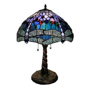 Warehouse of Tiffany Tiffany-Style Dragonfly Table Lamp - 2 Light