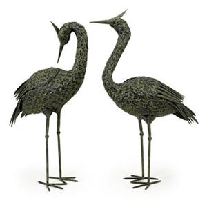 IMAX Worldwide Cypress Park Green Metal Coastal Bird Statue