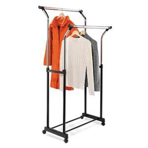 Honey Can Do GAR-01119 Flared Double Garment Rack, Chrome,GA