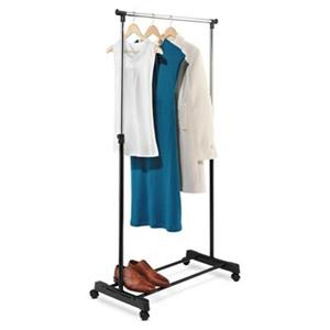 Honey Can Do GAR-01122 Adjustable Height Garment Rack, Chrom
