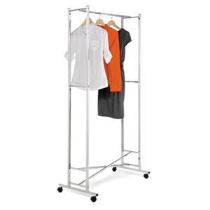 Honey Can Do GAR-01268 Square Tube Garment Rack, Chrome,GAR-