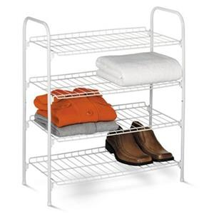 Honey Can Do 27.60-in 4 Tier Wire Shoe and Accessory Closet Shelves