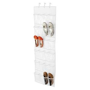 Honey Can Do 57-in White 24 Pocket Over The Door Shoe Organizer