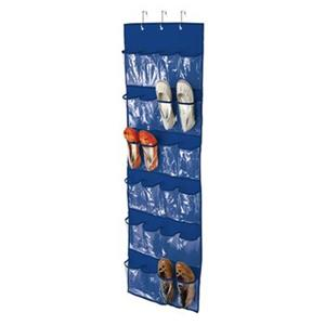 Honey Can Do 57-in Blue 24 Pocket Over The Door Shoe Organizer