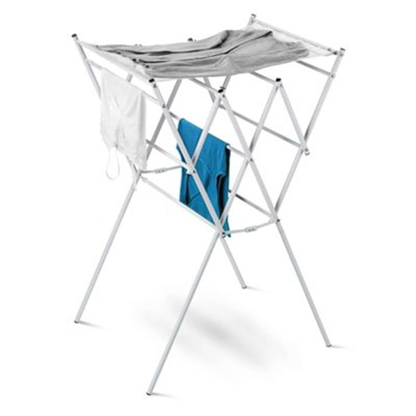 Honey Can Do DRY White Expandable Drying Rack With Mesh Shelf