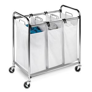 Honey Can Do Heavy Duty Triple Laundry Sorter Hamper