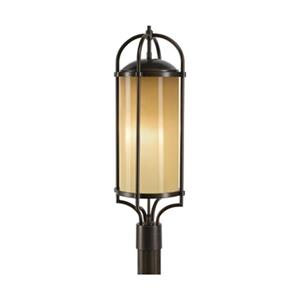 Feiss Dakota 3-Light Bronze Post Mount Light.