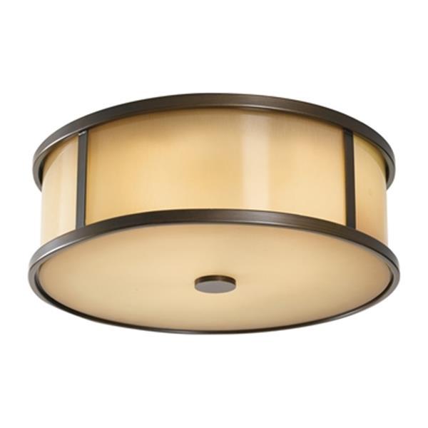 Feiss Dakota Bronze 3-Light Outdoor Flush Mount Light