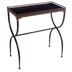 IMAX Worldwide 14-in x 25.5-in  Black X-Leg Rectangular Accent Entry Table