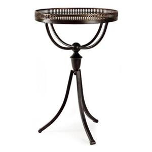IMAX Worldwide Empire Gallery 16.25-in x 24.5-in Black Tri-Footed Entry Table