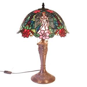 Warehouse of Tiffany 2-Light Style Angel Table Lamp