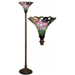 Warehouse of Tiffany Iris Torchiere Floor Lamp