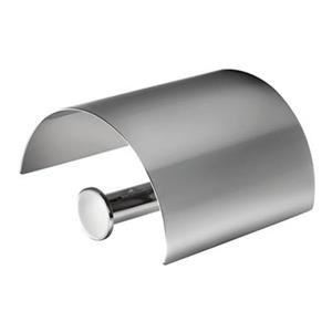 WS Bath Collections Baketo 5203 Polished Chrome  Toilet Roll Holder With Cover