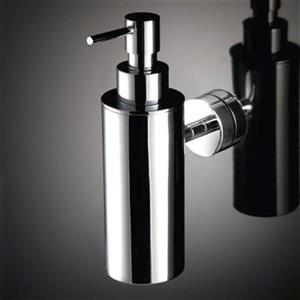 WS Bath Collections Baketo Polished Chrome Wall Mounted Soap Dispenser