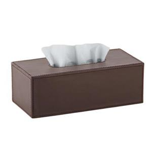 WS Bath Collections Korame Black Complements Tissue Box